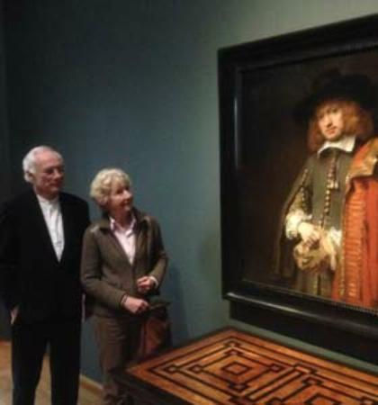 Drs. Kees Kaldenbach - VIP Private Art Day Tours: Jan Six 1, with clients.