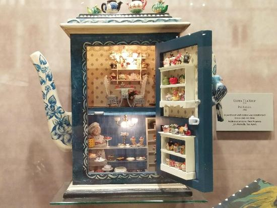 Mini Christmas Village Display.Christmas Village Display Under Glass In Floor Picture Of