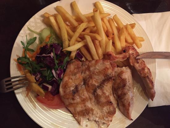 Ristorante Trattoria La Stego : Chickensteak von der Angebotskarte (lunch menu)