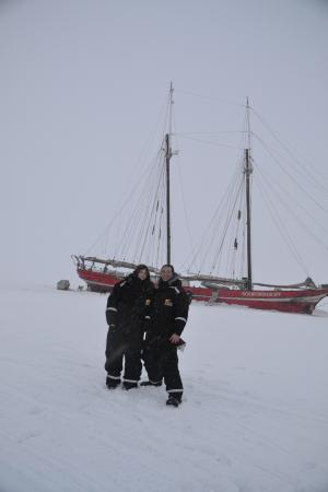 Ship in the Ice: In front of the Ship