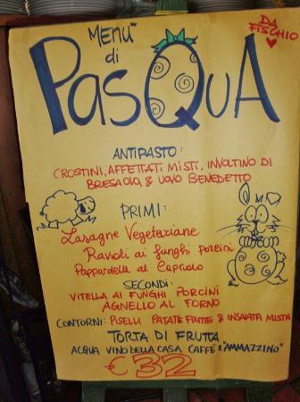 Ristorante Pizzeria Da Fischio: Il pranzo di Pasqua