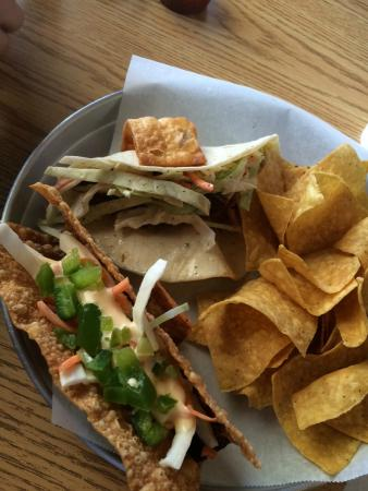 Asian Taco and Smoked Beef Brisket Taco (soft shell) - Picture of ...