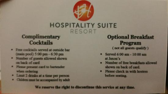 Hospitality Suite Resort: Awesome perks!