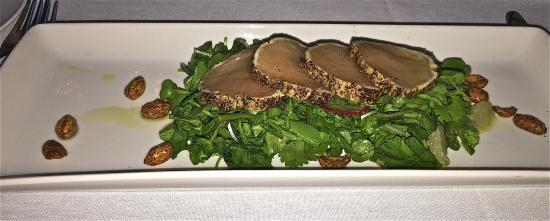 Brix & Mortar Restaurant : Albacore Tuna Tataki for appetizer