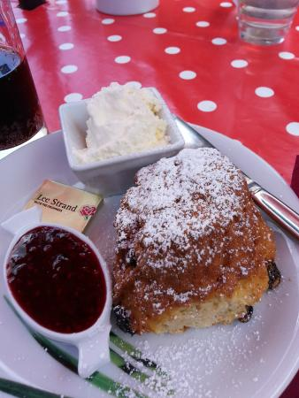 The Garden Cafe: Lovely scone with jam and clotted cream