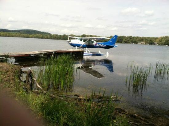 The Lake House: Small planes come in for meals.