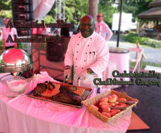 Richfield Springs, NY: Chef Michael carving station.
