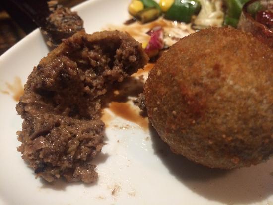 Crown Inn: Battered Haggis