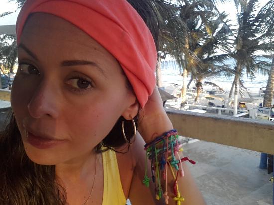 Hotel Surf Paradise: Atardecer en el restaurante Ipanema.