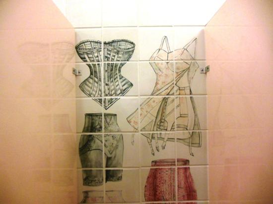 John Michael Kohler Arts Center: Lingerie tiles in Ladies'
