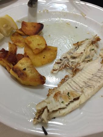 La Lampada : Grilled Rombo fish with potato