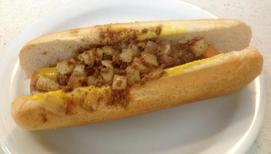 New Way Lunch (Warrensburg, NY) Famous Hot Dog