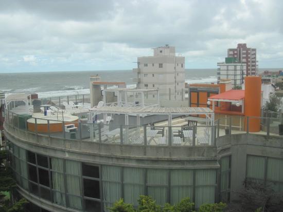hosteria tequendama terraza con jacuzzi exterior y spa
