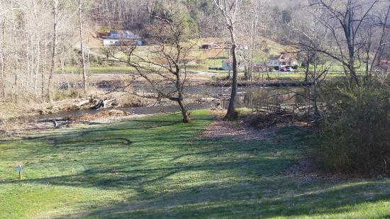 Quality Inn : Creek view