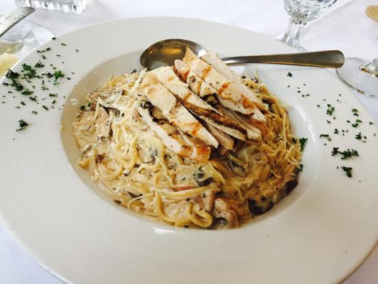Old Mission Tavern : Wild Mushroom Pasta with Grilled Chicken Breast