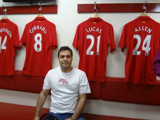 9ccc82ed7 At the dressing room - Picture of Anfield Stadium