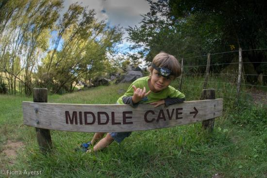 Whangarei, Nieuw-Zeeland: note there are 3 different caves