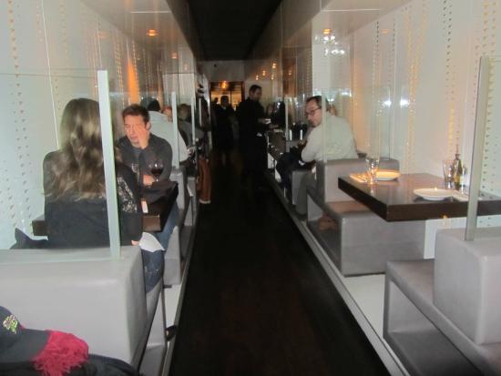 Naya Mezze & Grill: Naya's narrow dining room, it  is very long