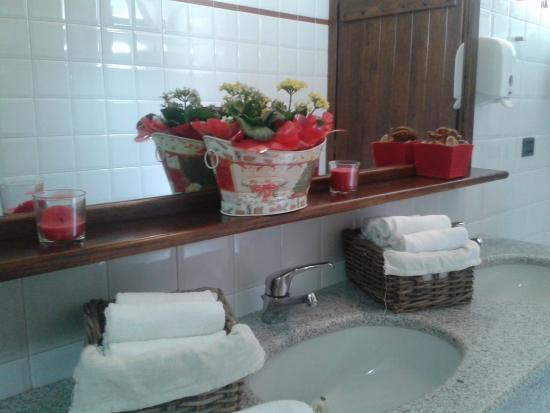 ristorante le torri il bagno e la salviette in spugna monouso