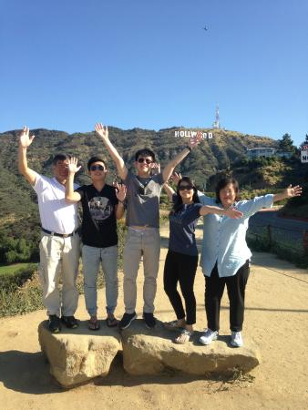 American Riviera Private Tours: At the Hollywood sign