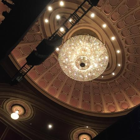 Big chandelier inside theater picture of broadway theatre new broadway theatre big chandelier inside theater aloadofball Image collections