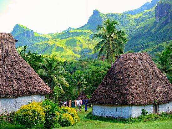 Figi: Navala Village on the main Island of Viti Levu, Fiji