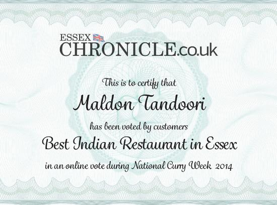 Essex Chronicle Best Restaurant In Essex Picture Of Maldon