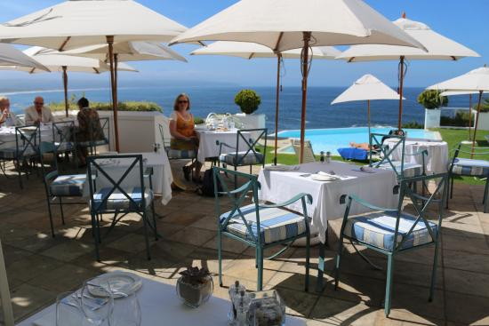 SeaFood at The Plettenberg: View from restaurant to terrace and over the bay