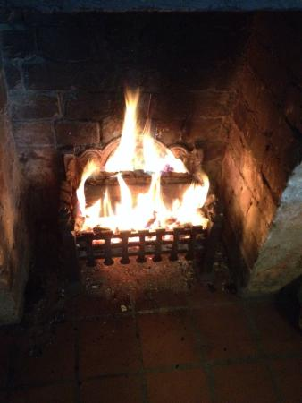 The Plough Inn: Log fire