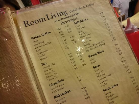 20170514 205649 picture of living room cafe for Living room menu