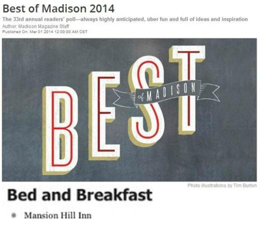 Mansion Hill Inn : Awards
