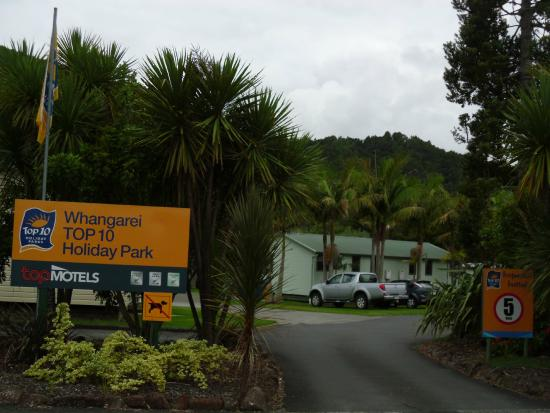 Whangarei TOP 10 Holiday Park: Entrance