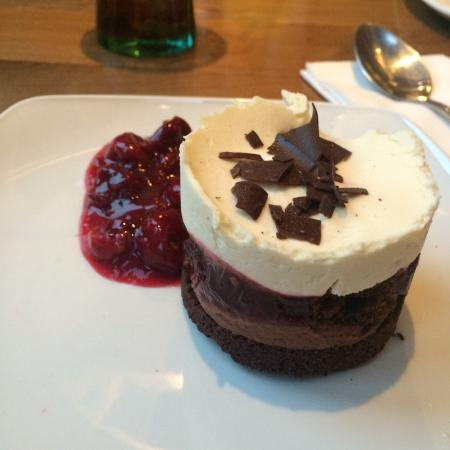 The Boathouse: Black Forest cheesecake
