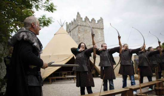 Downpatrick, UK: fire live arrows in game of thrones archery range during your set tour