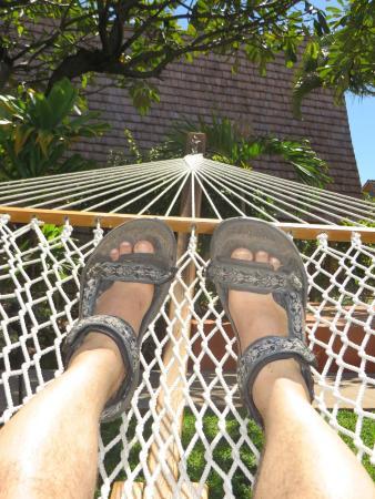 Kaunakakai, Hawái: Lounging on the Hammock