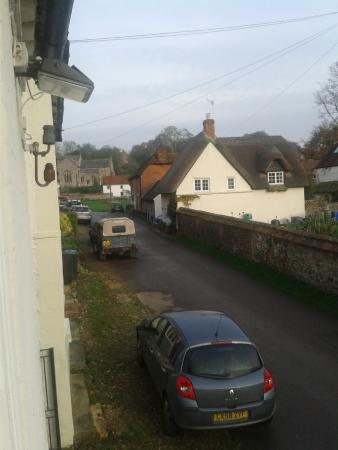 The Crown Aldbourne: view from our room