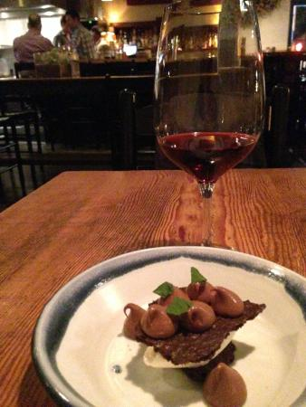 Rich Table: Wine and chocolate dessert