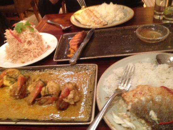 Chilli Banana Thai Restaurant: Main of prawns, very, very nice