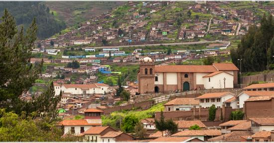 B&B-Hotel Pension Alemana: View over old Cuzco