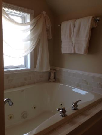 Wales, WI: The whirlpool tub in bed chamber #3.