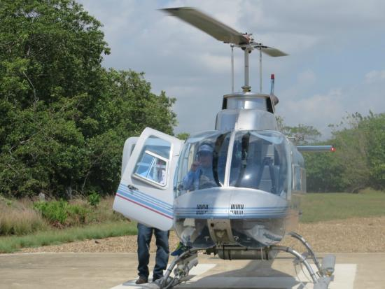 Astrum Helicopters: Bell Heli from Astrum provided smooth ride to Blue Hole