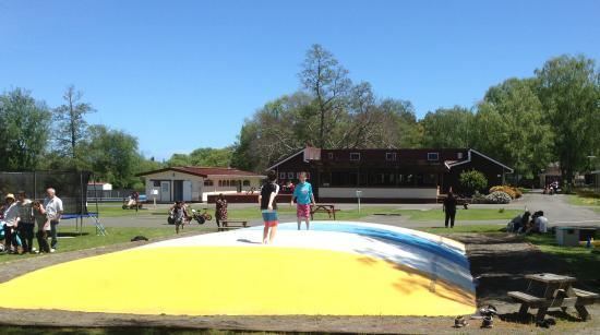 Whanganui River Top 10 Holiday Park: Jumping Pillow and Playground - family fun!