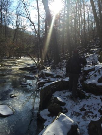 Hacklebarney State Park: Winter hiking is awesome in hacklebarney.