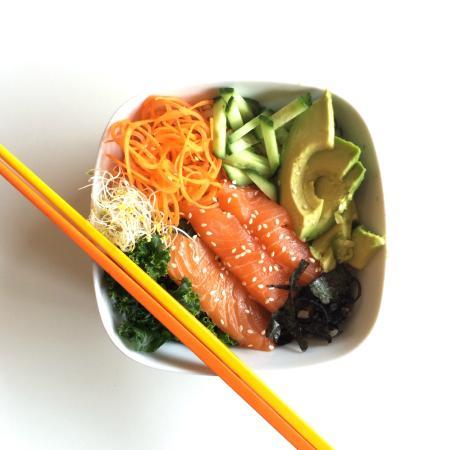 Communitea Cafe: Wild BC Salmon Sushi Bowl