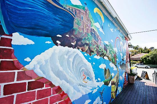 Albany Bayview YHA: Wall Mural