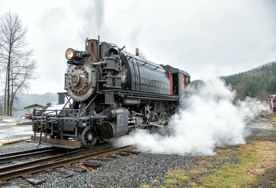 Elbe, WA: Photo of Mt. Rainier Scenic Railroad courtesy Allen's Photographic