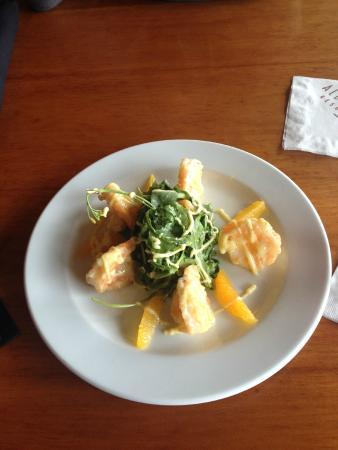 The Restaurant at Alderbrook: GRAND MARNIER PRAWNS
