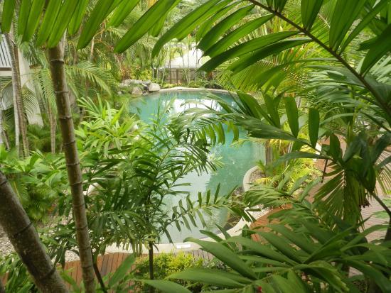 Port Douglas Retreat : Pool from 1st floor Pool View room