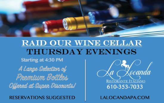 Ristorante La Locanda: Raid the Wine Cellar on Thursdays