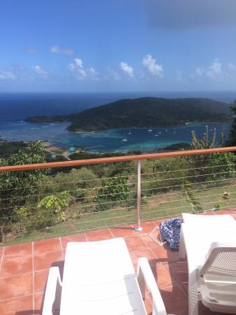 Evening Star Villas: Denne udsigt stod vi op til i en uge